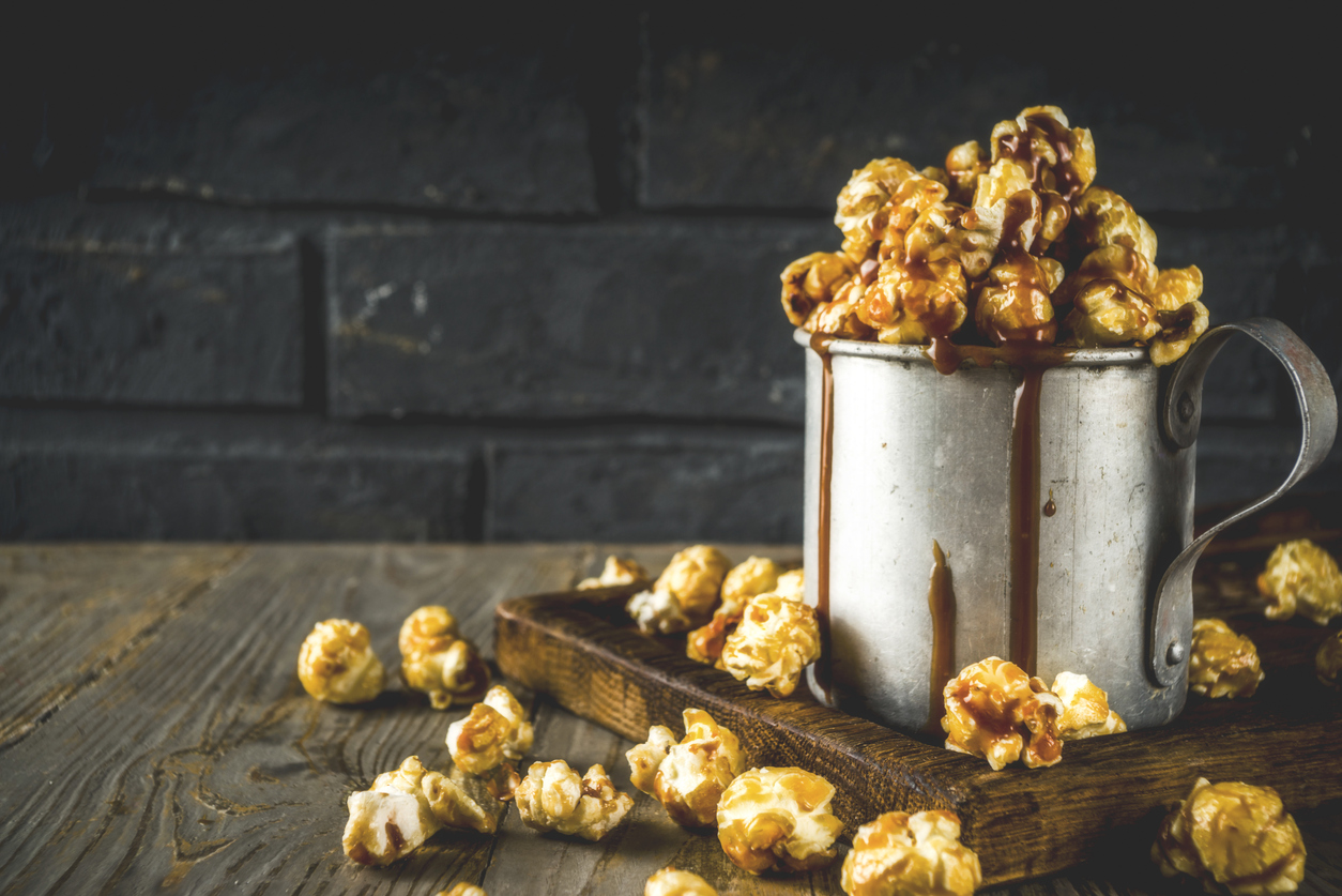 gourmet caramel popcorn from a local gift shop