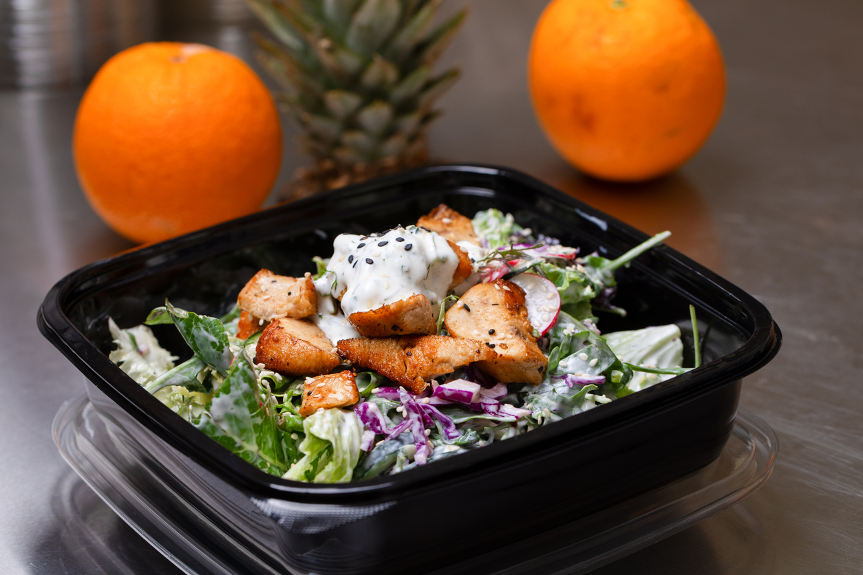 Fresh salad meal packed in a plastic container | salads in Manassas